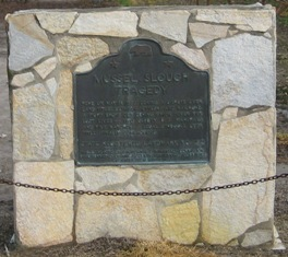 Historical marker of the Mussel Slough Tragedy, Stanislaus County, California